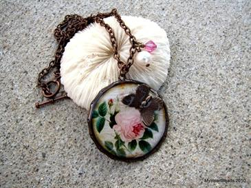 Antique Rose Necklace, by My Heart Beads